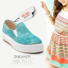 Yeşil Pullu Sneakers 49.90TL Fırsatı kaçırma, bahar modasını yakala! https://www.modsimo.com/eeme~u~yesil-pullu-ayakkabi-babet-spor-3285-4484