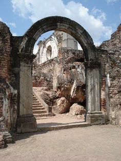 Ruinas en Antigua Guatemala.
