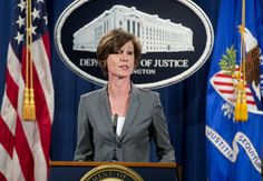 Deputy Attorney General Sally Yates,.  Trump Fires Acting Attorney General For Refusing To Defend Immigration Order : NPR