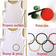 olympic tee, make your own with the kids, instructions for this and an olympic t. - olympic tee, make your own with the kids, instructions for this and an olympic torch at kates creat - Beer Olympics Party, Kids Olympics, Special Olympics, Summer Olympics, Senior Olympics, Olympic Idea, Olympic Games, Olympic Gymnastics, Gymnastics Quotes