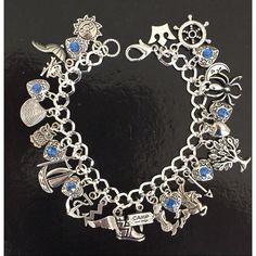 Percy Jackson Charm Bracelet, Olympians, Poseidon, Demi-Gods, Fandom... ($30) ❤ liked on Polyvore featuring jewelry, bracelets, charm bracelet, handcrafted jewelry, handcrafted jewellery and hand crafted jewelry
