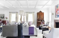 House Beautiful Burnham Design Modern Tudor    Modern-Tudor-Living-Room-overall