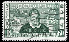 Marco Polo Postage Stamp from Italy printed in 1954