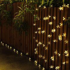 Solar Led Fairy Lights On Fence Http Www Amazon Com