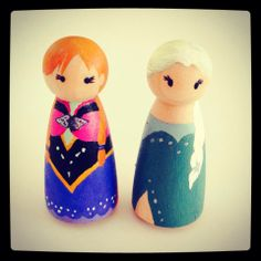 LOVE Frozen princesses! The Yewman Projects - Blogs, Dogs, Frogs & Books : The next phase of peg people