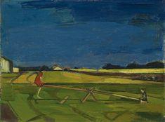 Albert Schnyder LA BALANÇOIRE CAMPAGNARDE, 1956 Ferdinand, Abstract Landscape, Landscape Paintings, Landscapes, Side, People Art, Impressionist, Modern Art, Auction