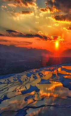 Sunset in Pamukkale, Turkey