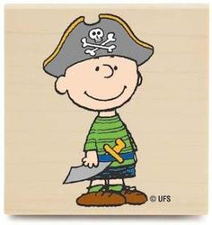 Peanuts Snoopy Rubber Stamp F1165 PIRATE CHARLIE
