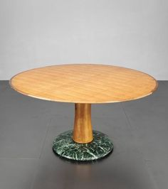 Paolo Buffa; Walnut and Marble Center Table for Arrighi, 1950s.: