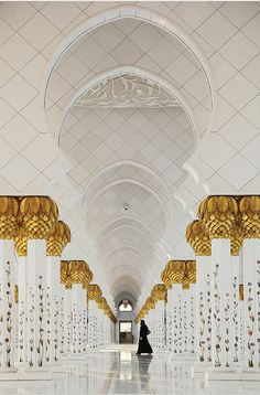 Sheikh Zayed Grand Mosque. Incredible details. Reverent.