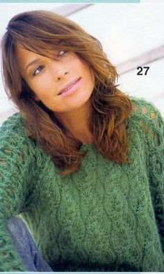 Mohair Sweater with Delicate Sleeves free knitting graph pattern