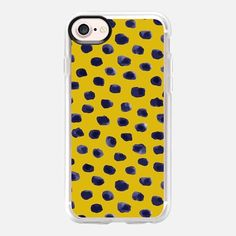phone case - blueberry dots print by KIND OF STYLE
