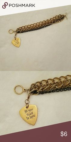 Mutiple Chain Bracelet Removable Charm All You Need Is Love Jewelry Bracelets