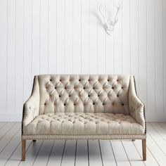 Bath Button Back 2 Seater Sofa with Coloured Buttons - Sofas & Armchairs - Furniture