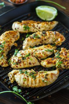 Easy Chili Cilantro Lime Chicken is salty, sweet, sour, and spicy and is great on salads, with rice, or in