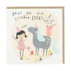 Best birthday unicorn birthday card