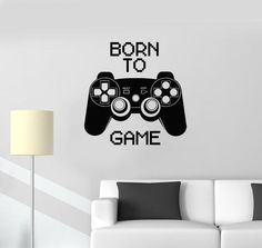 Vinyl Decal Quote Video Game Computer Joystick Gaming Teen Boys Room Wall Stickers (ig2752)