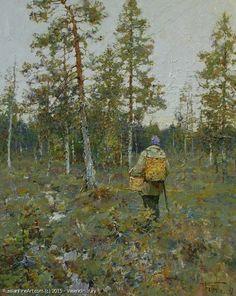 """""""For Mushrooms"""" oil, canvas - Yuri Vasendin (B.1958, Arkhangelsk) Self-taught artist"""