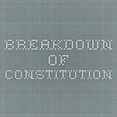 Breakdown of Constitution