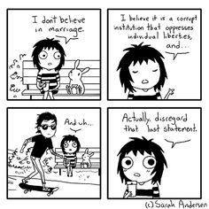 Sarah's Scribbles by Sarah Andersen Saturday, August 2014 Sarah Anderson Comics, Sara Anderson, Tumblr Funny, Funny Memes, Hilarious, Saras Scribbles, Sarah See Andersen, C Cassandra, 4 Panel Life