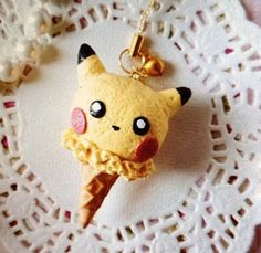 This is just too adorable. I love pikachu and I love ice cream! Just genius to put them together.