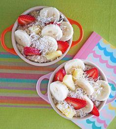 Banana, Strawberry and Pineapple Oatmeal