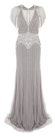 """Stunning Jenny Packham Embellished Gown with a Victorian """"twist"""" Stunning Dresses, Beautiful Gowns, Pretty Dresses, Beautiful Outfits, Vintage Outfits, Vintage Dresses, Vintage Fashion, Jenny Packham, Moda Art Deco"""