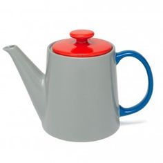 Jansen Co My Tea Pot, Red/Grey/Blue modern coffee makers and tea kettles Mug Dinner, Teapots And Cups, Ceramic Teapots, Chocolate Pots, Milk Jug, My Tea, Shops, Tea Party, Tea Cups