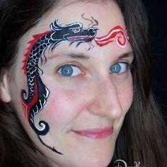 Chinese dragon.... design by Аквагрим Милена  #dragon #chinesedragon #dragonfacepaint  #facepainting  #nanettegries #doodlez  #kinderschminkenhusum #kinderschminkennordfriesland