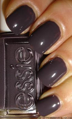 "Essie - ""Smokin' Hot"" - love dark purple on my nails Fabulous Nails, Gorgeous Nails, Love Nails, How To Do Nails, Pretty Nails, My Nails, Essie Nail Polish, Nail Polish Colors, Colorful Nail Designs"