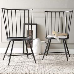 HomeSullivan Walker White Wood and Metal High Back Dining Chair (Set of at The Home Depot - Mobile Windsor Dining Chairs, High Back Dining Chairs, Solid Wood Dining Chairs, Metal Chairs, Dining Chair Set, Dining Room Chairs, Side Chairs, Dining Area, Office Chairs