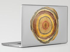 Tree Rings Laptop Skin by Rachael Shankman
