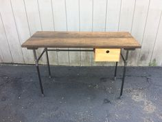 Sturdy Statements Customizable Reclaimed Wood Desk (Optional Drawers Available as Add On) Keyboard Tray Crate Drawer
