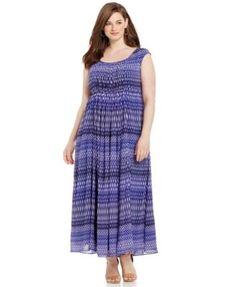Calvin Klein Plus Size Printed Maxi Dress-$102.99