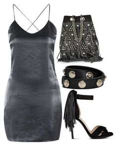 """""""Untitled #759"""" by gabbyriera on Polyvore featuring Jérôme Dreyfuss, Topshop, Nine West and Versace"""