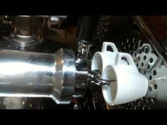 Eterna vintage lever espresso machine - YouTube