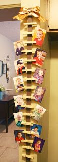 DIY Hanging Photo or Card Holder  (Gonna do this with Christmas cards this year!)