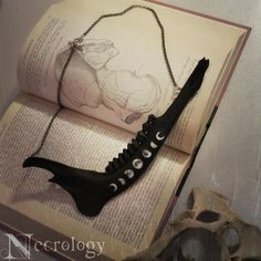 Witchy Deer Jawbone Necklace Occult Bone Jewelry Moon by Necrology