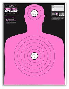 "PINK-FIRE HUMAN SILHOUETTE 19""X25"" TRAINING TARGETS (5 PACK) | Armor Tech Defense Ltd."