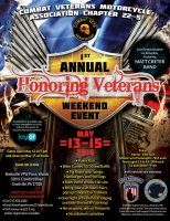 Grantville, PA - May 13-15, 2016: CVMA 22-5 hosts Honoring Veterans Weekend. Fun filled weekend benefiting Keystone Iron Warriors and Veteran Service Canine.