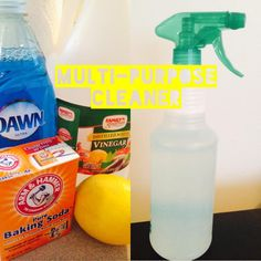 Multi-Purpose Cleaner made with household items! Much safer and less expensive option.
