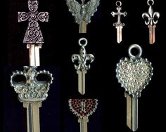 Couture keys - Chateau De Vore, French Quarter, New Orleans Antiques & Old World Home Decor, Tuscan home decor, spanish home decor