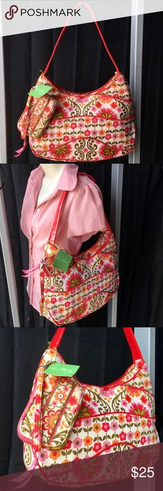 🌸VERA BRADLEY NWT LARGE SET🌸 🌸VERA BRADLEY NWT LARGE SET🌸 ZIP TOP SHOULDER BAG HOBO FOLKLORIC WITH ZIP WALLET. NO RIPS SNAGS STAINS HOLES TEARS!! Vera Bradley Bags Shoulder Bags