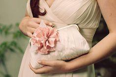 Bridal Clutch / Flower Purse / Wedding Purse Rosa by DavieandChiyo