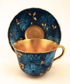 Antique Doulton Burslem Art Nouveau Demitasse Cup & Saucer