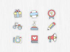 Dribbble - Icons.png by Lumen Bigott