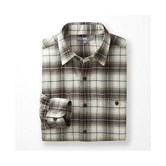 Flannel Check Long Sleeve Shirt - Khaki