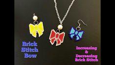 Brick Stitch Bow.How to do Increase & Decrease Brick Stitch