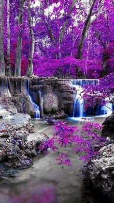 Purple Stream - No clue where this was taken...must be from the purple rain.