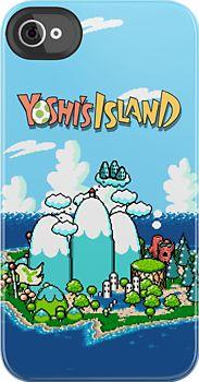 Yoshi's Island Iphone Case by carnivean